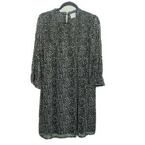 Siren lily 1x polka dot shift Dress black white